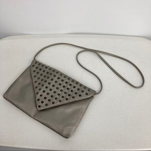 Apt 9 Crossbody or Clutch. Silver w Gray Studs